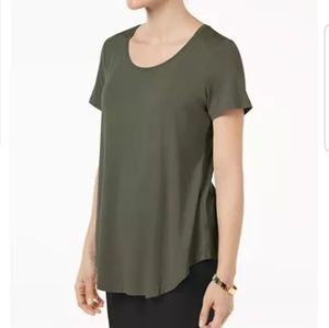 NWT JM Collection olive green T-shirt